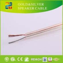 Cable de altavoz transparente del CCA de la chaqueta del PVC del precio bajo de China