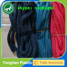 Colored 3-strand twisted polyester rope 12mm