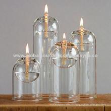 Lampe à huile en verre borosilicate au design unique avec différentes tailles
