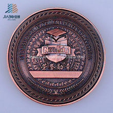 Moneda de honor de bronce antiguo logotipo personalizado 3D en metal