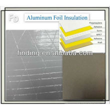 feuille d'aluminium isolation face mylar