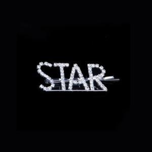 "Grampo de cabelo de moda letra ""STAR"" de cristal"