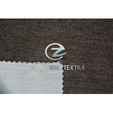 Poly Velvet Bonded with Mesh Fabric for Curtain and Sofa Use
