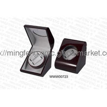 Glossy lacquering wooden Watch Winder for double watches