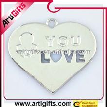 heart shaped metal love pendants