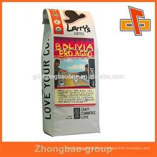 Moisture proof reciclar café bolsas de embalaje / bolsas de empaque de café de frijol