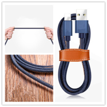 Jean braided USB charger cable