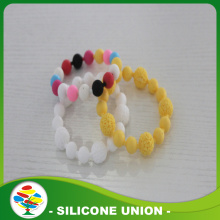 Promotion Simple Design Silicone Beaded Bracelet