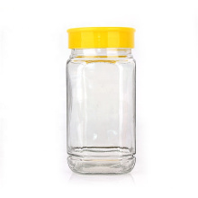 square shaped wholesale empty honey glass jar 750ml 1000g with airtight plastic cap