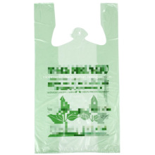 Green T-Shirt Bag with Printing Thank You