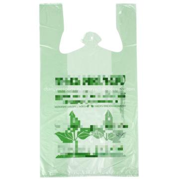Зеленая сумка для футболки с принтом Спасибо
