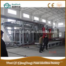 HPL hot press linha de produção / pressão alta press machine / formica painéis linha de produção