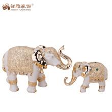 Figura regional de la resina de la característica del elefante indio al por mayor para la decoración del hogar y de la oficina