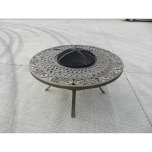 2014 New Style Cast Alum Wood Burning Fire Table