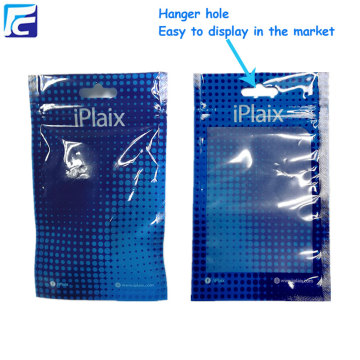 Custom logo plastic cell phone accessories packaging bags