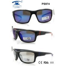 Popular Plastic Newest Sport Sunglasses for Woman Man (PS974)