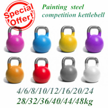 Peinture St14 Steel Hollow Competition Kettlebell avec poignée inoxydable