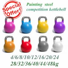 Pintura St14 Steel Hollow Kettlebell concorrência com alça de aço inoxidável