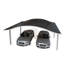 Foto-Metalldach gebogener Carport
