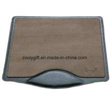 Design personalizado PU couro Mousepad com logotipo com escrever resto