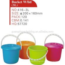 Großhandel kleine Kunststoff-Eimer mit Deckel und Griff