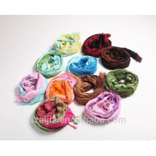 Nouvelle écharpe en mousseline de soie foulard à la mode