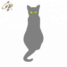 Pin de solapa de gato de esmalte de plata personalizado