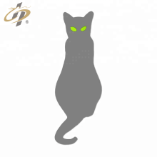 Pino de lapela de gato de esmalte prateado personalizado
