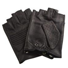 Herrenmode Schwarz Fingerless Leder Driving Sport Handschuhe (YKY5203)