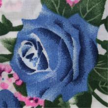 Impresión de flores con tela de rayón liso