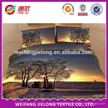 the best fashion bedding design/3D printed bedding set/3d bed cover/100% polyester bed sheet