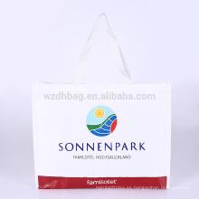Reutilizable PP laminado promocional polipropileno tejido compras bolsa supermercado para supermercado