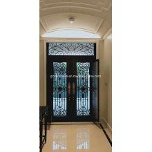 Железная стеклянная дверь с рабочим окном