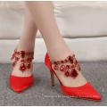 Zapatos de tacón alto brillo tacón mujer