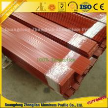 Profil en aluminium décoratif enduit adapté aux besoins du client d'extrusion de poudre colorée par OEM