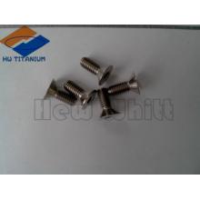 parafuso liso de titânio de alta resistência Gr5 M4 * 8