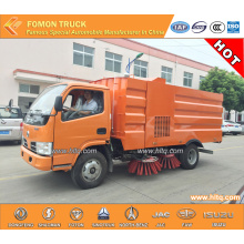 dongfeng 3300mm road sweeper truck dust tank 4000L water tank 1500L