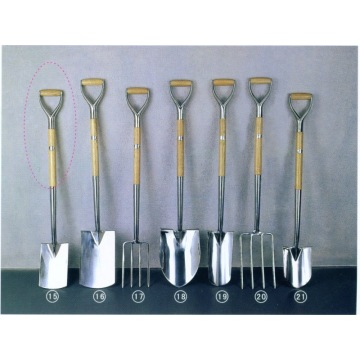 Stainless Spade and Fork with FSC Certificate Handle