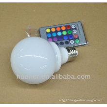 3w e27 rgb rechargeable led emergency light with controller