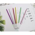 14,5 cm Höhe Metallic Farbe Papier gewickelt Bleistift Kerze
