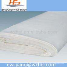 Venta directa de la fábrica hoja de cama blanca de polycotton / venta de la tela de lino