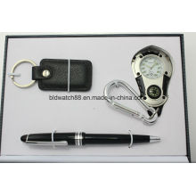 Mens Watch Gift Set com pingente
