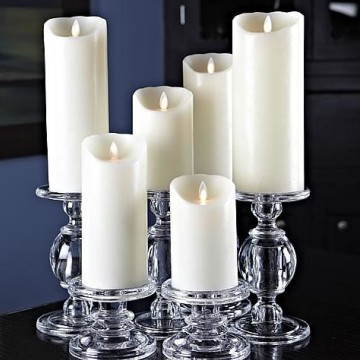 ivory moving wick led candles