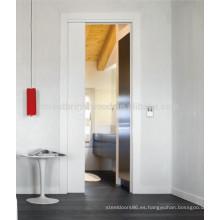 Puertas de bolsillo interiores blancas australianas, puerta de bolsillo de madera