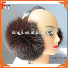 Top quality real fox fur earmuff