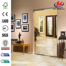 JHK-G01 Half Glass Insert Wall Partition Aluminium Profile Glass Door