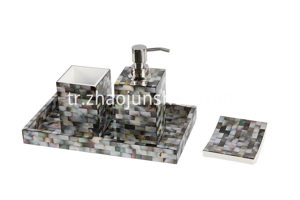 Handmade Black Mother of Pearl Wholesale Bathroom Set