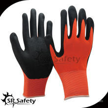 SRSAFETY sandy nitrile palm dipped/safety gloves/work gloves