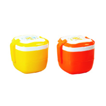 Plastic Lunch Box With Handle Two Layer