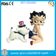 Betty Boop Funny Dog Salz- und Pfefferstreuer